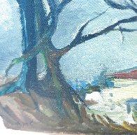 My Neighborhood 1960 9x12 Original Painting by Itzchak Tarkay - 1