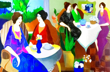 Lunch With Erin 2014 Huge Limited Edition Print - Itzchak Tarkay
