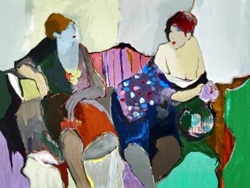 Two Women on a Sofa 1980 Limited Edition Print - Itzchak Tarkay