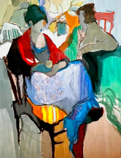 Woman Sitting 1980 Limited Edition Print - Itzchak Tarkay