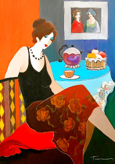 Silent Dream 2006 41x32 Huge Original Painting - Itzchak Tarkay