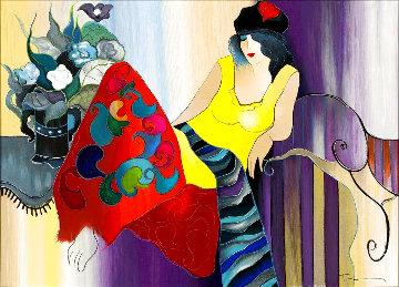 Floral Encounter 2006 Embellished Huge Limited Edition Print - Itzchak Tarkay