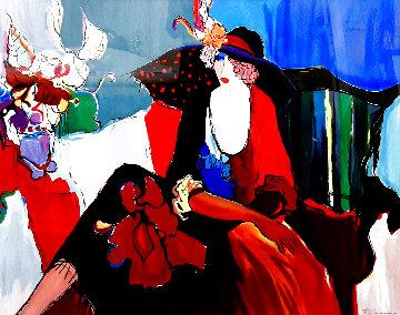 Lady in Red II Huge Limited Edition Print - Itzchak Tarkay