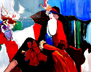 Lady in Red II Super Huge Limited Edition Print - Itzchak Tarkay