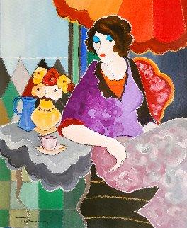 Spring Day 26x22 Original Painting - Itzchak Tarkay