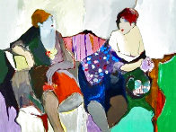 Two Women on a Sofa 1980 Limited Edition Print by Itzchak Tarkay - 2