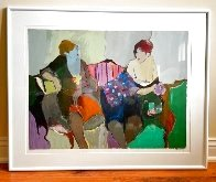 Two Women on a Sofa 1980 Limited Edition Print by Itzchak Tarkay - 1