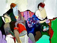 Two Women on a Sofa 1980 Limited Edition Print by Itzchak Tarkay - 0