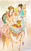 Untitled Watercolor 18x12 Watercolor by Itzchak Tarkay - 0