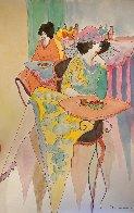 Untitled Watercolor 18x12   Watercolor by Itzchak Tarkay - 1