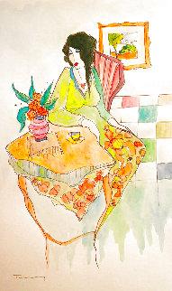 Untitled  Watercolor 18x12  Watercolor - Itzchak Tarkay