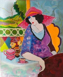 Charlotte 22x18 Original Painting - Itzchak Tarkay