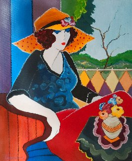 Isabella 22x18 Original Painting - Itzchak Tarkay