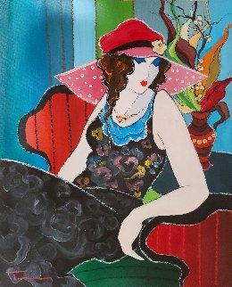 Olivia 22x18 Original Painting - Itzchak Tarkay