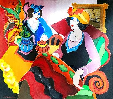 Fashionable Woman 2010 32x36 Original Painting - Itzchak Tarkay