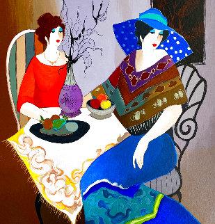 Untitiled Portrait of Two Women Limited Edition Print - Itzchak Tarkay