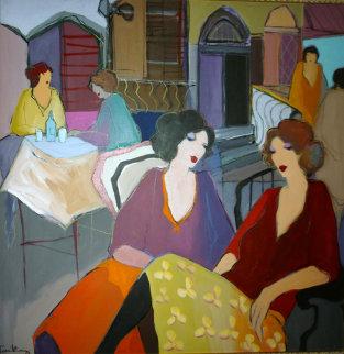Dreamer 1992 45x48 Original Painting - Itzchak Tarkay