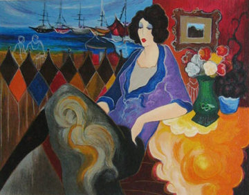 Fisherman's Harbour 1996 Limited Edition Print by Itzchak Tarkay