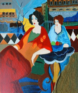 Cafe De Luc  Limited Edition Print by Itzchak Tarkay