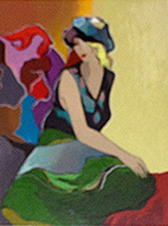 Lauren Reflects 2012 Limited Edition Print by Itzchak Tarkay