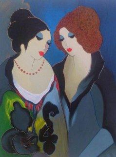 Gossiping Limited Edition Print by Itzchak Tarkay
