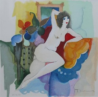 Amelie Reclining Limited Edition Print by Itzchak Tarkay