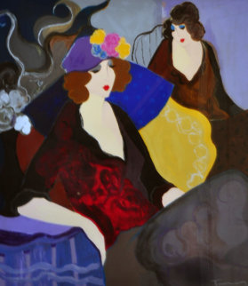 Ghislaine 1997 43x39 Limited Edition Print by Itzchak Tarkay