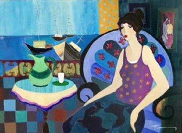 Summer Fun 2005 34x44 Huge Original Painting - Itzchak Tarkay
