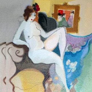 Sandra With Flowers 1996 Limited Edition Print by Itzchak Tarkay