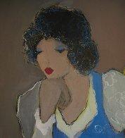 Women in Blue 44x36 Super Huge Original Painting by Itzchak Tarkay - 3
