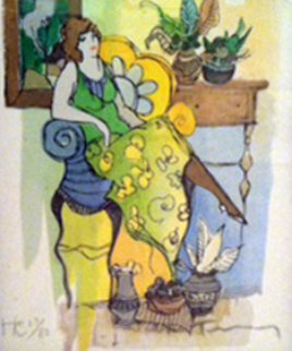 Leafy Dreams 2001 Limited Edition Print - Itzchak Tarkay