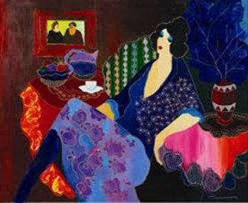 Eliza's Blue Bonnet 2001 40x48 Huge Limited Edition Print - Itzchak Tarkay