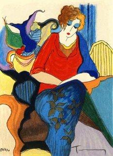 Waiting 1998 Limited Edition Print by Itzchak Tarkay