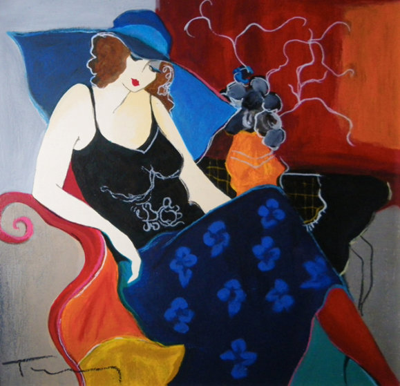 Nellie 1997 Embellished Limited Edition Print by Itzchak Tarkay