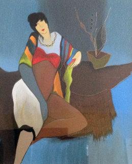 Annie Awaits 2004 Limited Edition Print - Itzchak Tarkay