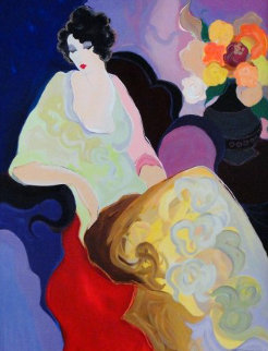 Lady in Yellow 2000 Embellished Limited Edition Print by Itzchak Tarkay