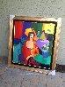Two Women And a Man 49x44 Original Painting by Itzchak Tarkay - 1