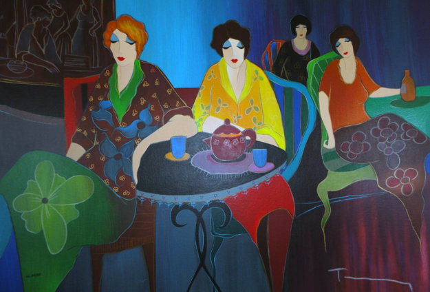 Cafe Bistro II 2008 Limited Edition Print by Itzchak Tarkay