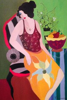 Four Fruits 2005 47x37 Original Painting by Itzchak Tarkay