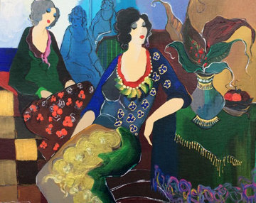 Laura And Terrie 2000 26x31 Limited Edition Print by Itzchak Tarkay