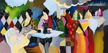Afternoon Luncheon 1998 Limited Edition Print by Itzchak Tarkay