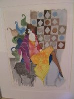 Untitled Lithograph 1990 Limited Edition Print by Itzchak Tarkay - 1