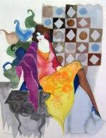 Untitled Lithograph 1990 Limited Edition Print by Itzchak Tarkay - 0