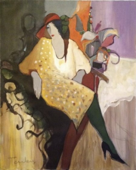Rose 1995 39x31 Original Painting by Itzchak Tarkay