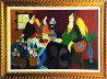 Afternoon Chat 2007 34x51 Original Painting by Itzchak Tarkay - 0