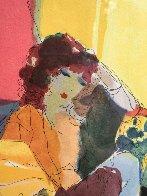 Reverie, From Les Parisiens Suite  AP 1991 Limited Edition Print by Itzchak Tarkay - 3
