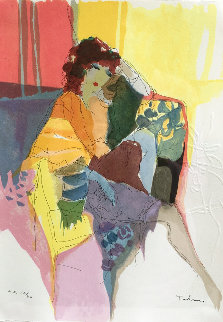 Reverie, From Les Parisiens Suite  AP 1991 Limited Edition Print by Itzchak Tarkay