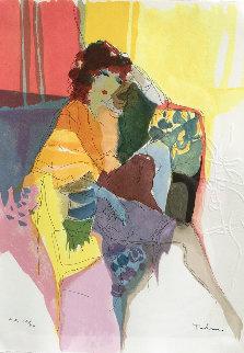 Reverie, From Les Parisiens Suite  AP 1991 Limited Edition Print by Itzchak Tarkay
