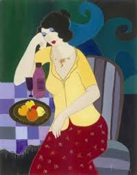 Relaxing Lunch 2007 Limited Edition Print by Itzchak Tarkay