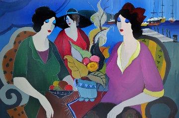 Untitled Painting 49x40 Original Painting - Itzchak Tarkay